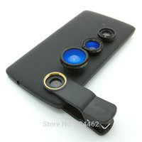 Cheap Mobile Phone Accessories Parts Mobile Phone Lens Universal Clip 3 in 1 camera to Mobile Phone Lenses, Fish Eye Wide Angle lense