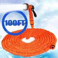Wholesale 100ft FT FT FT Expandable Magic Flexible Hose Water for Garden Car Pipe Plastic Hoses to Watering with Spray Gun