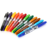 Wholesale IMC x Colors Double Ended Permanent Art Drawing Markers Highlighter Pen Office order lt no track