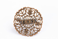 Wholesale Antique Copper Adjustable Filigree Round Plated Ring Blank Finding Jewelry Findings mm JZ9A