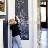 Wholesale Details about CM Blackboard Memo Wall Sticker Chalkboard Decal Chalk Board Baby Decor
