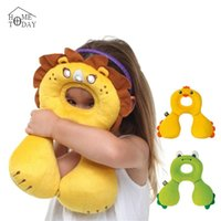 Wholesale Baby s U Pillows Animal Shaped Headrest Month Babies Cartoon Neck Protector Travel Toys Children Kids Pillow Gifts FYT101