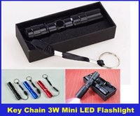 Wholesale Portable Waterproof W Mini LED Flashlight Torch Camping Sporting Home Use Color Black Red Blue DHL Free Delivery