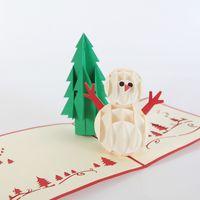 cedar - Creative Kirigami Origami Artistic Pop up D Christmas Cards Cedar TreeGreeting Gift Christmas Cards with Christmas Tree Gif