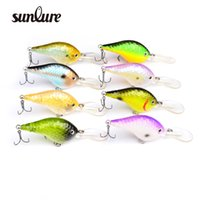 Wholesale Crank Boxes Wholesale - 8pc Design Golf Ball Dimple Fishaing Lures Exported to USA Market Crank lures 11.5cm 23g fishing tackle Retail box DW-B20