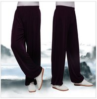 Wholesale Tai chi pants Ice silk exercise kung fu both men and women