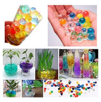Diaper crystal water beads wholesale - Colorful Pearl Shaped Crystal Soil Water Beads Balls Deco Crystal Mud Boll Crystal Plant Soil Beads mm g