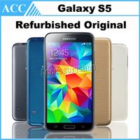 Wholesale Original Refurbished Unlocked Samsung Galaxy S5 i9600 G900F G900V G900A inch Quad Core GB RAM GB ROM WCDMA G LTE Phone Free DHL