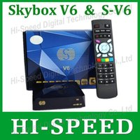 Wholesale 40PCS Original S V6 SKYBOX V6 S V6 MINI HD satellite receiver Support Cccamd Newcamd MGCamd web tv usb wifi