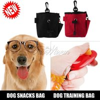 Wholesale New Outdoor Portable Dog Pet Treat Training Bait i click Ball Pouch Clicker Food Holder Waist Bag Supply