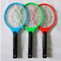 Wholesale Handheld Bug Zapper Tennis Racket Electronic Flyswatter V Takes D Cells order lt no track
