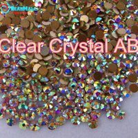 Wholesale Smallest Size Quality Great AAA HotFix Rhinestone SS3 Clear AB Crystal FlatBack strass glass stone for Hot Fix DIY garment