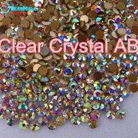 hot-fix for rhinestone - Smallest Size Quality Great AAA HotFix Rhinestone SS3 Clear AB Crystal FlatBack strass glass stone for Hot Fix DIY garment