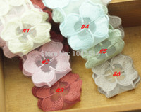 Wholesale 5cm wide lace colors ribbons lace for handmade flower wedding decorative lace yards