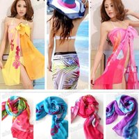 Wholesale Women s Ladies Chiffon Sexy Wrap Bikini Swimwear Sun Dress Sarong Beach Cover Up Scarf