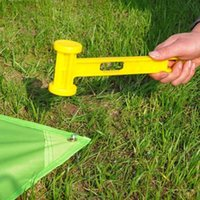 Wholesale Blocklite Plastic Hammer for Camping Tent Peg Stake Nail Durable Portable Yellow