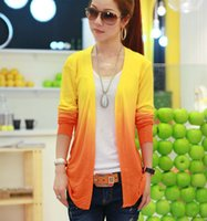 Wholesale 2014 slim knit cardigan new summer sun gradient air conditioning slim women s knitwear shawl