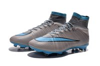 pvc boots - Nike Mercurial Superfly FG Cleats Shoes Soccer Boots Men s Superfly Shoes Football Shoes Grey Blue