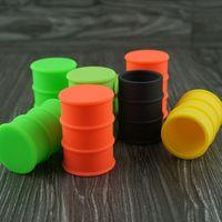 Wholesale Full colors non stick heat freeze resistant siilicone oil barrel jar food grade silicone oil barrel container