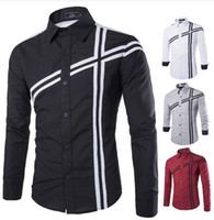Wholesale New Arrival Top Quality Brand Mens Imported Clothing Mens Dress Shirts Men Long Sleeve Wind hit the color Shirts