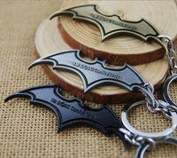 bats orders - mix order New Arrival Super Hero Superhero Marvel Batman Bat Metal Keychain Pendant Key Chain Chaveiro Key Ring KT195