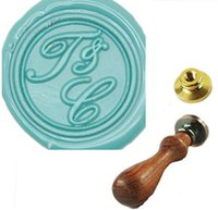 Wholesale Custom Two Initials Letters Wedding Invitations Personalized Wax Seal Stamp Set