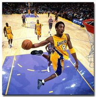 abstract fabric - Kobe Dunks Super Basketball Star Sports Silk Fabric Poster Print quot