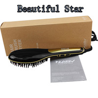Cheap lOCKIN good quality Beauty Electric Comb Hair Straightener Brush led temp Display for Straight Hair 2016