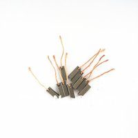 alternator wire - 10pcs Wire Leads Electric Generator Motor Graphite x6x15mm Carbon Brushes Alternator Power Tool for Generic Electric Motors