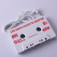 Wholesale New Audio Car Cassette Tape Adapter MM For iPhone Ipod MP3 AUX