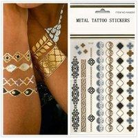 artifical jewellery - Hotsale metal Temporary Tattoos stickers bridal artifical bracelets jewellery European environmental friendly tattoo stampings