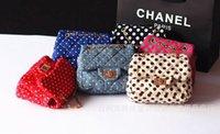 Wholesale New Fashion children handbag kid s bag child Shoulder Bag Purse Messenger Bag Fashion polka dots girl s handbag free