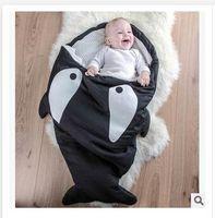 Wholesale Cartoon Shark Baby Sleeping Bags Top quality Winter Strollers Bed Swaddle Blanket Wrap cute Bedding baby sleeping bag Dhgate