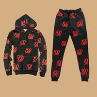 basketball fun - The New Foreign Trade Fun QQ Expression Print Pants Suit Leisure Wild Hoody Piece Trousers Sport Suit Black S M L XL XXL