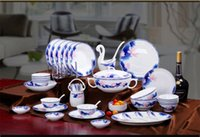 Wholesale Jingdezhen Ceramic Cutlery Set bone china tableware suit European tableware manufacturers custom gift tableware bowl