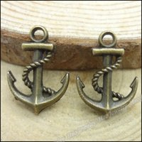 antique boat accessories - Vintage Charms Boat hook alloy Pendant Antique bronze Metal Fits Bracelets Necklace DIY Jewelry accessories Findings mm