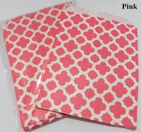 Cheap 100pcs Pink plum flower printed Grease proof paper Bag Favor Gift Packaging For Wedding Birthday Party Supply