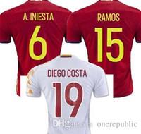 Wholesale Spain adluts jersey soccer jersey kids Spain adluts white XAVI FABREGAS football shirt TORRES red Camiseta de futbol