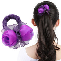 Wholesale New roses hair bands Handmade silk yarn rose hair bands High end hair jewelry