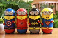 Wholesale Christmas kid gift mL avengers Minions stainless steel Mugs minions cup children flask vacuum thermos cup minions cartoon flask mL