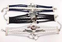 Wholesale Newest students handmade snap button bracelet AA828 fit mm mm snap noosa snap chunk jewelry