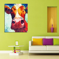 Wholesale Hand Painted Home Decor Painting The Honest And Tolerant Cow Oil Painting On Canvas As A Good Gift To Decorated The house