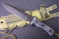al por mayor pacific-La alta calidad libre del OEM Chris Reeve boinas verdes PACIFIC cuchillos de la supervivencia de la caza recta hoja fija cuchillo táctico mango micarta