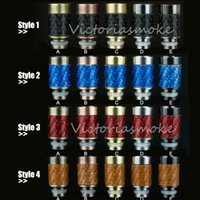 Wholesale Carbon Fiber Stainless steel Drip Tips EGO Wide Bore Drip Tip for CE4 Evod DCT E vaporizer atomizer mechanical mod atomizer ego