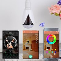 android universal remote control app - Bluetooth Smart Speaker RGB Light Bulb Intelligent Music Player LED Lamp Waterproof APP Remote Control for Android IOS Phones H1007