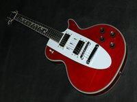 Wholesale red metallic music electric guitar Corvette Guitar Custom Shop