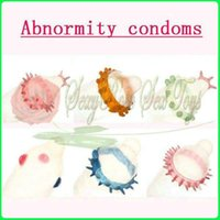 Wholesale D0487 Abnormity condoms different sytles safe packaging Sex products