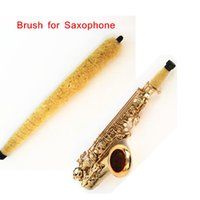 Wholesale Hot Sale Alto Saxophone Soft Cleaning Brush Cleaner Pad Saver Moisture Remover Saxophone Accessories Retail free shipp