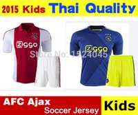 Soccer kids football shirts - Cheap new Kids Ajax home and away football jersey AFC Ajax football shirts for children to wear shirts embroidered