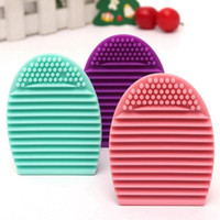 Wholesale Brushegg Silicone Brush Cleaning Egg Brush Egg Cosmetic Brush Cleanser Make up Makeup Brush Cleaner Clean Tool Face Brushes Blue Pink Purple